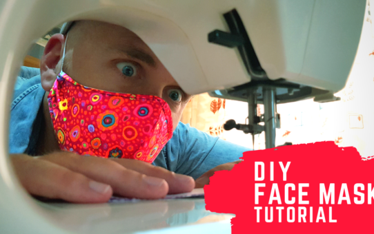 Quick DIY fabric face mask tutorial (with pattern)